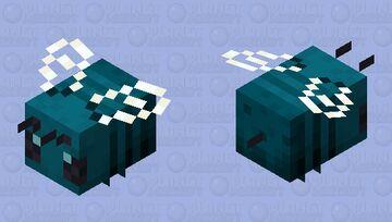 Blue Nether Wart Bee Minecraft Mob Skin