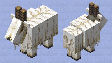 Goat  (why are the colors so bland in the 2D wiew???) Minecraft Mob Skin