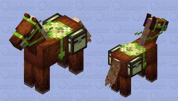 cottage core horse/mule/donkey Minecraft Mob Skin