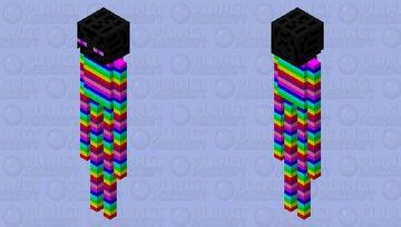 rainbow enderman Minecraft Mob Skin