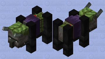 Swamp Ravager (Fixed) (Credits By Astro_Cat) Minecraft Mob Skin