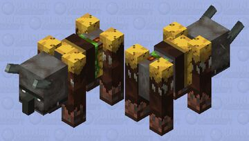 Jungle Ravager (Fixed) (Credits By Astro_Cat) Minecraft Mob Skin