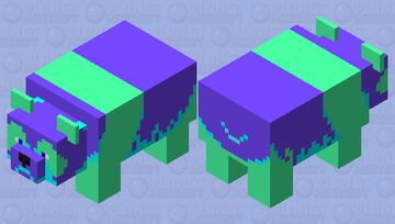 neon panda Minecraft Mob Skin