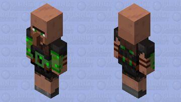 Villager Brute Emerald Minecraft Mob Skin