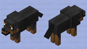 Rottweiler Minecraft Mob Skin