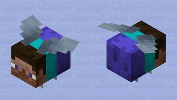 Steve wearing an Elytra Minecraft Mob Skin