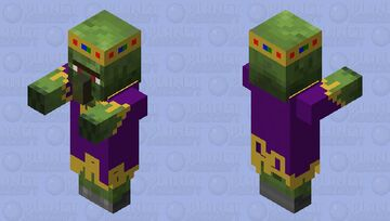 king zombie villager Minecraft Mob Skin
