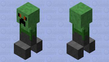Golem Zombie Creeper (Enraged) Minecraft Mob Skin