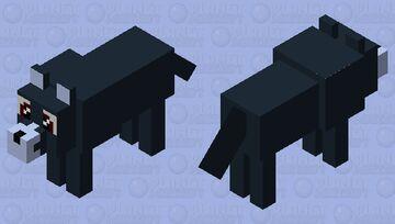 Cute bluish black wolf Minecraft Mob Skin