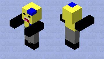 Lightbulb As A Zombie Vector Minecraft Mob Skin