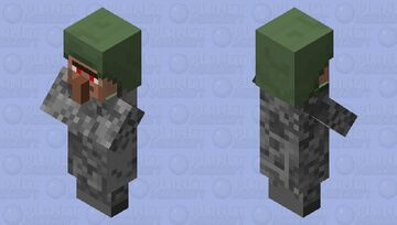 Moon Zombie (From Moon Mod) Minecraft Mob Skin