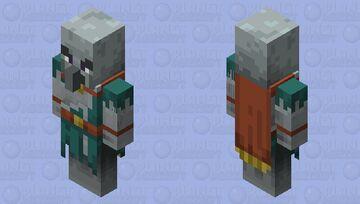 Wind Caller Minecraft  Dungeons Howling Peaks DLC (no hair) Minecraft Mob Skin