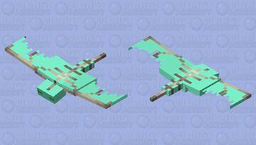 turquoise phantom Minecraft Mob Skin