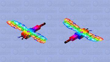 Flower rainbow dragonfly Minecraft Mob Skin