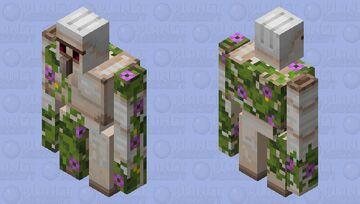Azalea flower vine iron golem Minecraft Mob Skin