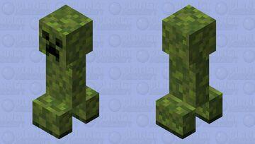 Mossy Creeper Minecraft Mob Skin