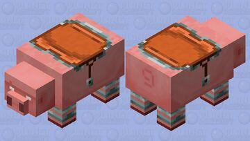 Big Pig / white eyes version / Ravager or team illager / remade Minecraft Mob Skin