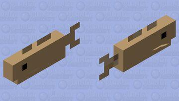 Simplified Cod Minecraft Mob Skin