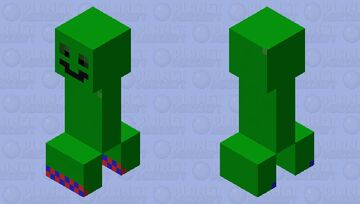 Happy Creeper Minecraft Mob Skin