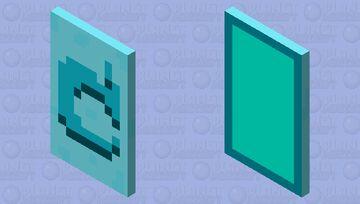 MOJANG AQUA UPDATE CAPE Minecraft Mob Skin