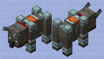 Tamed Ravager Minecraft Mob Skin