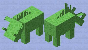 Slimy Hoglin Minecraft Mob Skin