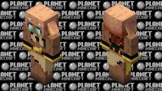 Anime Girl Piglin Minecraft Skin