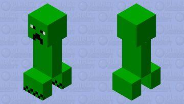 Simplified Creeper Minecraft Mob Skin
