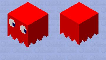 Red Pacman Ghost Minecraft Mob Skin