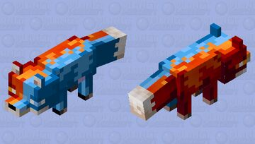 Fire & Ice Fox Minecraft Mob Skin