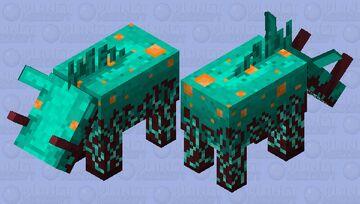 Warped Fungus Hoglin Minecraft Mob Skin