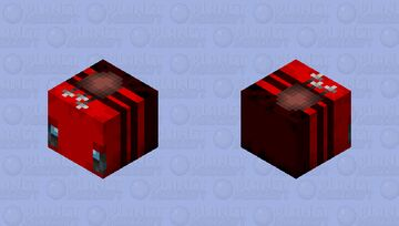 My old idea (RED GIANT BEE USING BOW AND ARROW)(remeke :) Minecraft Mob Skin