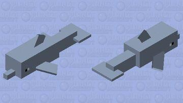 Simplified Dolphin Minecraft Mob Skin