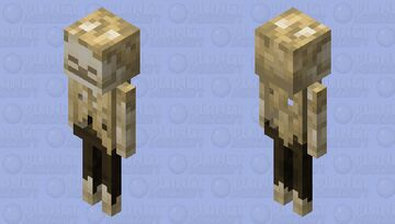 Skeleton / Husk / v.1 / Retexturized Minecraft Mob Skin