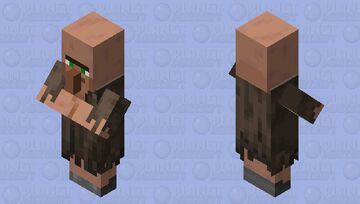 This villager needs to go to Target to get new clothes Minecraft Mob Skin