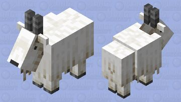 Dot-eyed Goat Minecraft Mob Skin