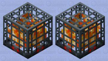 Blaze Spawner Minecraft Dungeons Flames of The Nether DLC Minecraft Mob Skin