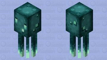 Better glow squid (inspired by Upgrade aquatic mod) Minecraft Mob Skin