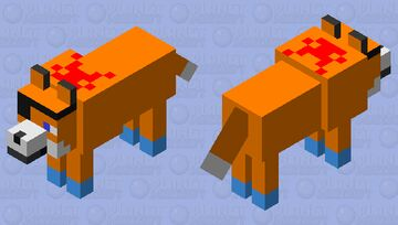 captain fox water bow Minecraft Mob Skin
