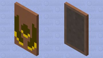 The mojang cape, but it's the wolfix logo Minecraft Mob Skin