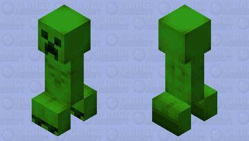 Realistic Jappa styled Creeper Minecraft Mob Skin