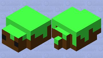 Grass Block Pet Minecraft Mob Skin