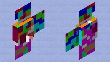 Abstract tropical fish Minecraft Mob Skin