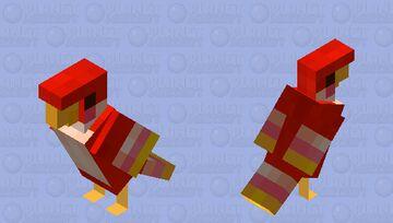 Crimson Loftwing- Skyward Sword Parrot Minecraft Mob Skin