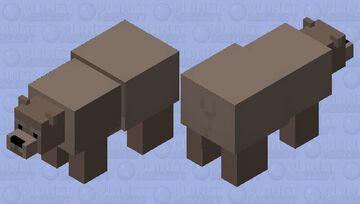 Hybrid half grizzly half polarbear? Or new kind if bear??(grolar bear/pizzly) Minecraft Mob Skin