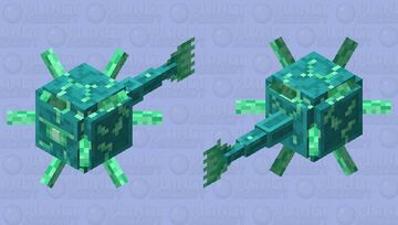 The glow guardian Minecraft Mob Skin