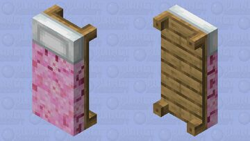 Sakura Cherry Blossom Bed Minecraft Mob Skin