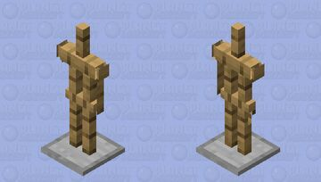 No Arms Armour stand (For Bedrock edition) Minecraft Mob Skin