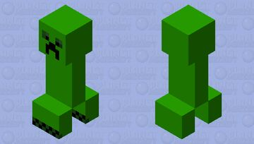 The old creeper of minecraft Minecraft Mob Skin
