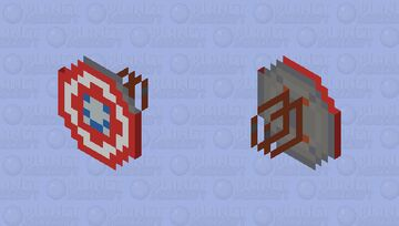 Captain America's Shield - CAPTAIN AMERICA'S SHIELDS COLLECTION [CUSTOMS] Minecraft Mob Skin
